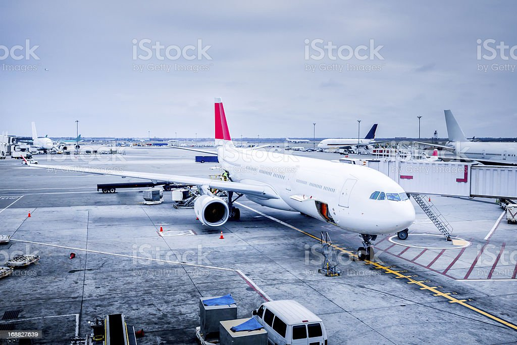 Commercial Jet at Gate royalty-free stock photo