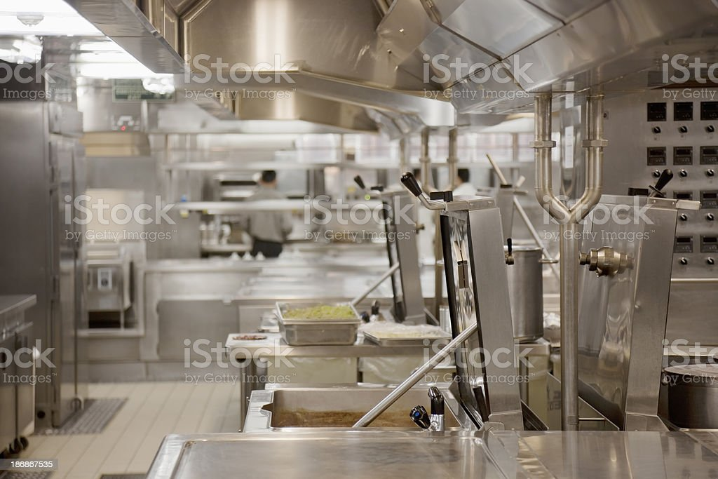 Commercial kitchen deep-fryer royalty-free stock photo