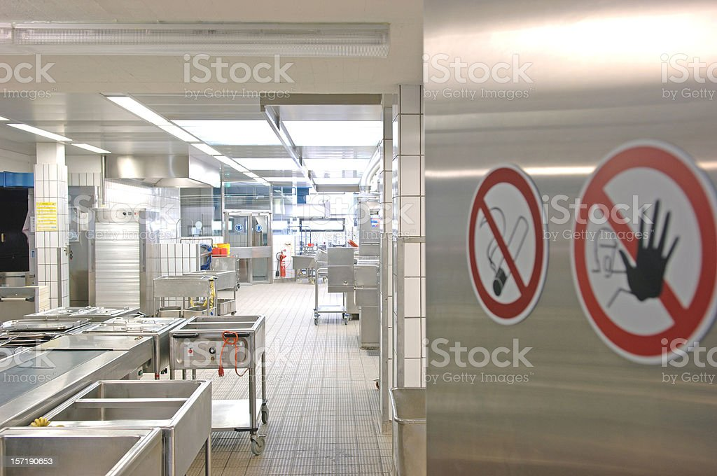 Commercial kitchen entrance royalty-free stock photo