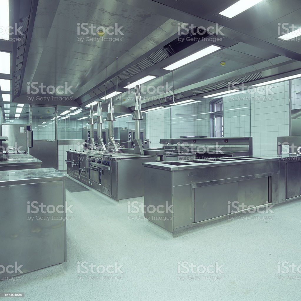 Commercial Kitchen view square formate royalty-free stock photo