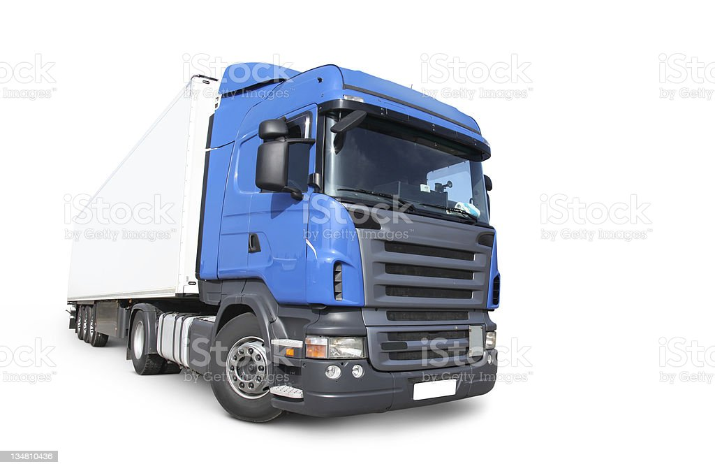 Commercial Land Vehicle (clipping path) royalty-free stock photo