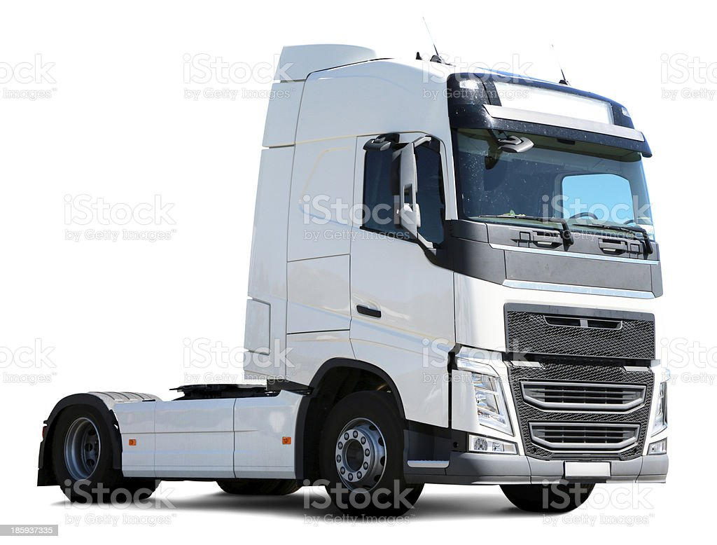 Commercial Land Vehicle (clipping path) - Stock Image stock photo