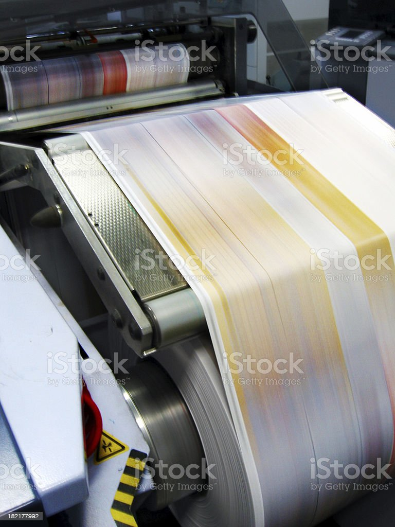 Commercial laser printer. royalty-free stock photo