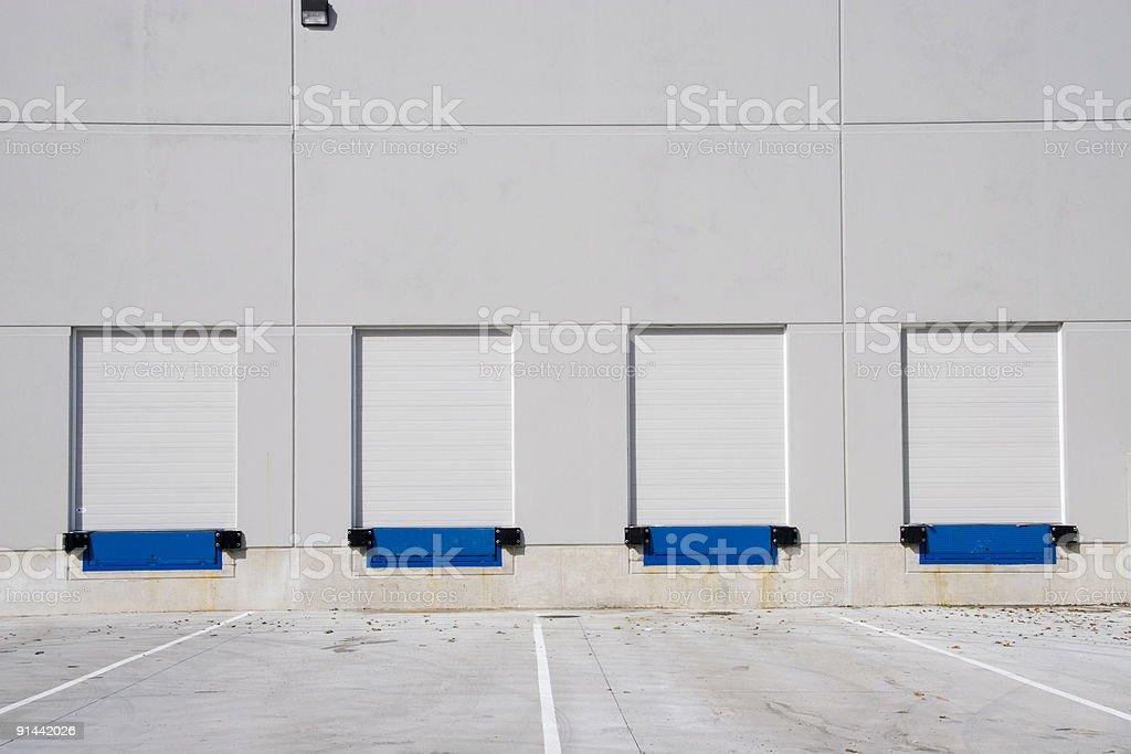 Commercial Loading Dock stock photo