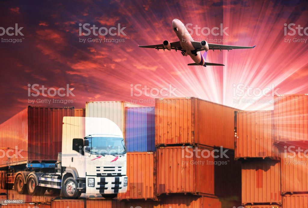 commercial logistic ,shipping business industry stock photo