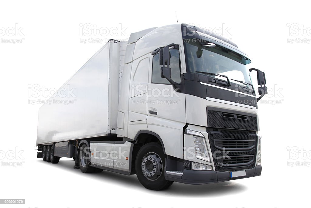 Commercial Lorry Vehicle (clipping path) stock photo