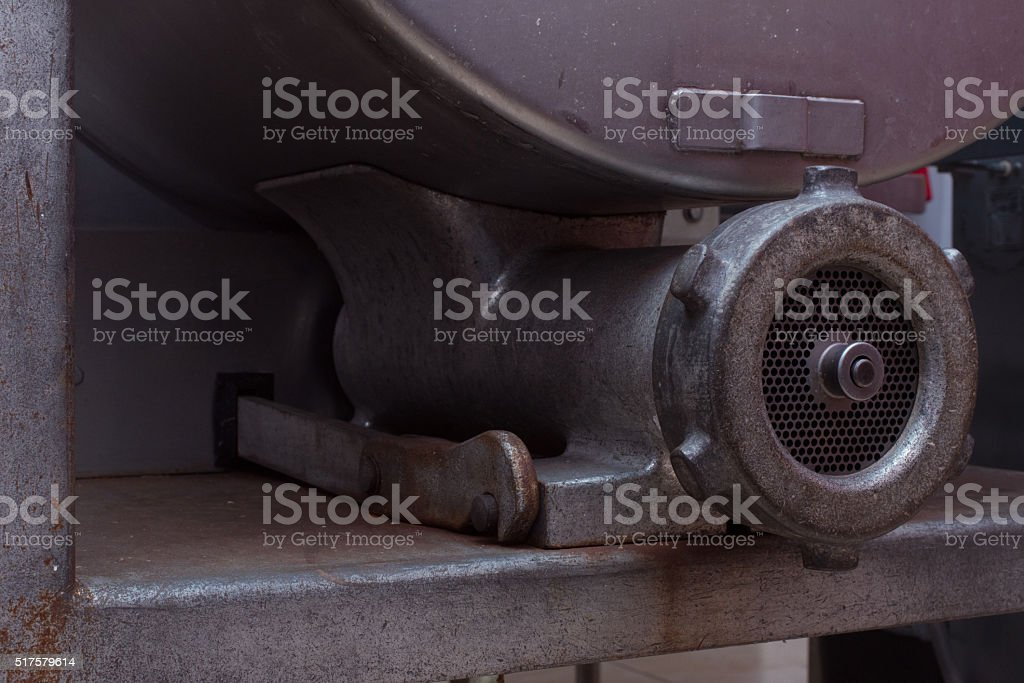 Commercial Meat Grinder stock photo