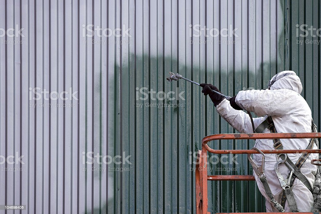 Commercial Painter stock photo