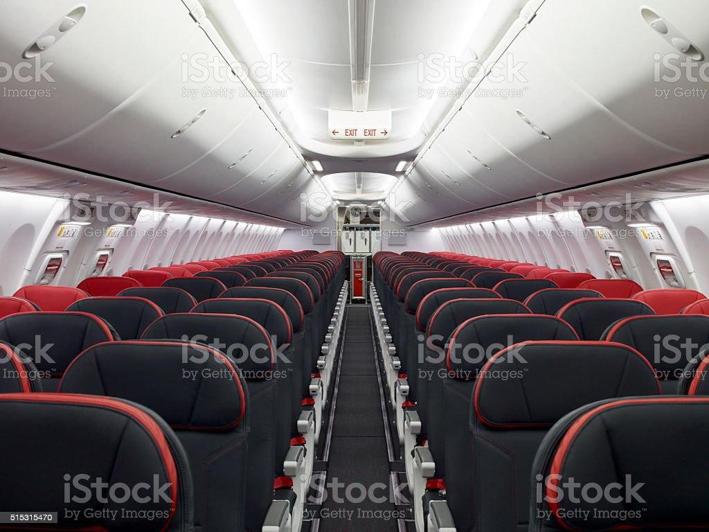 Commercial plane stock photo