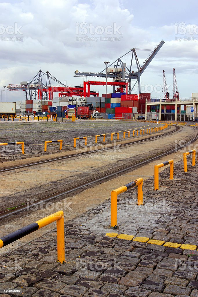 Commercial Port royalty-free stock photo