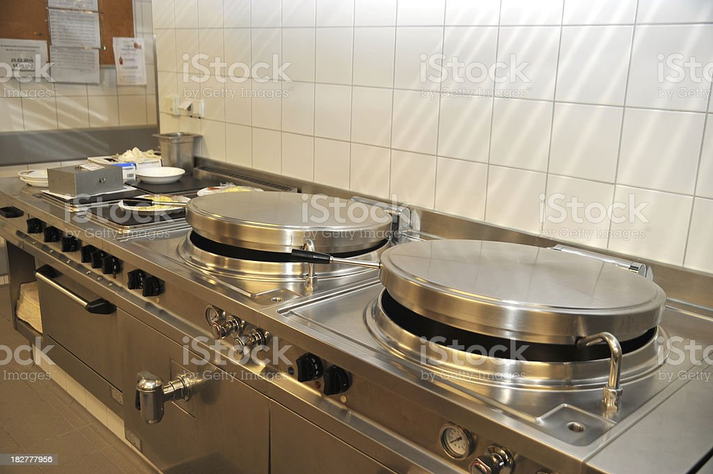 commercial professional kitchen cooking field royalty-free stock photo
