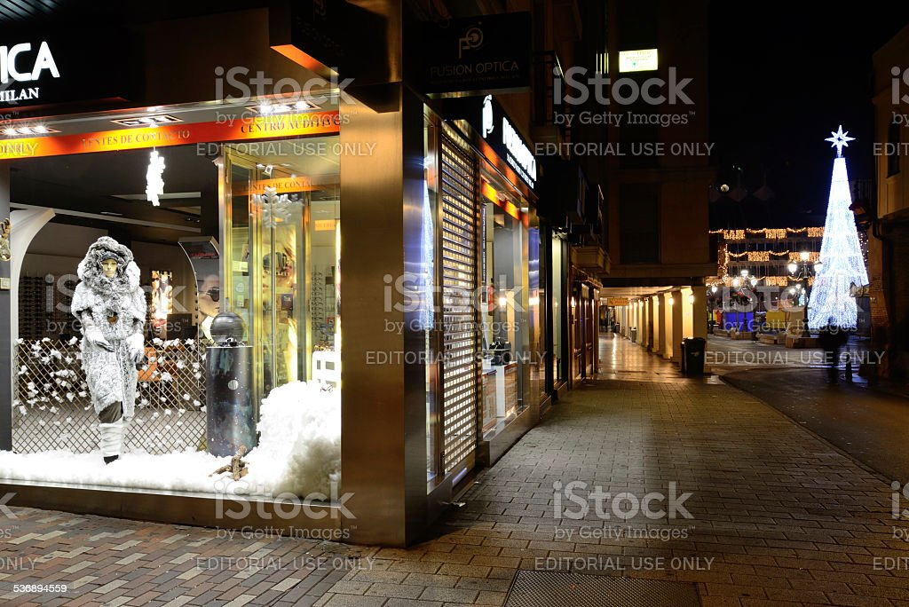 Commercial property for holiday season. stock photo
