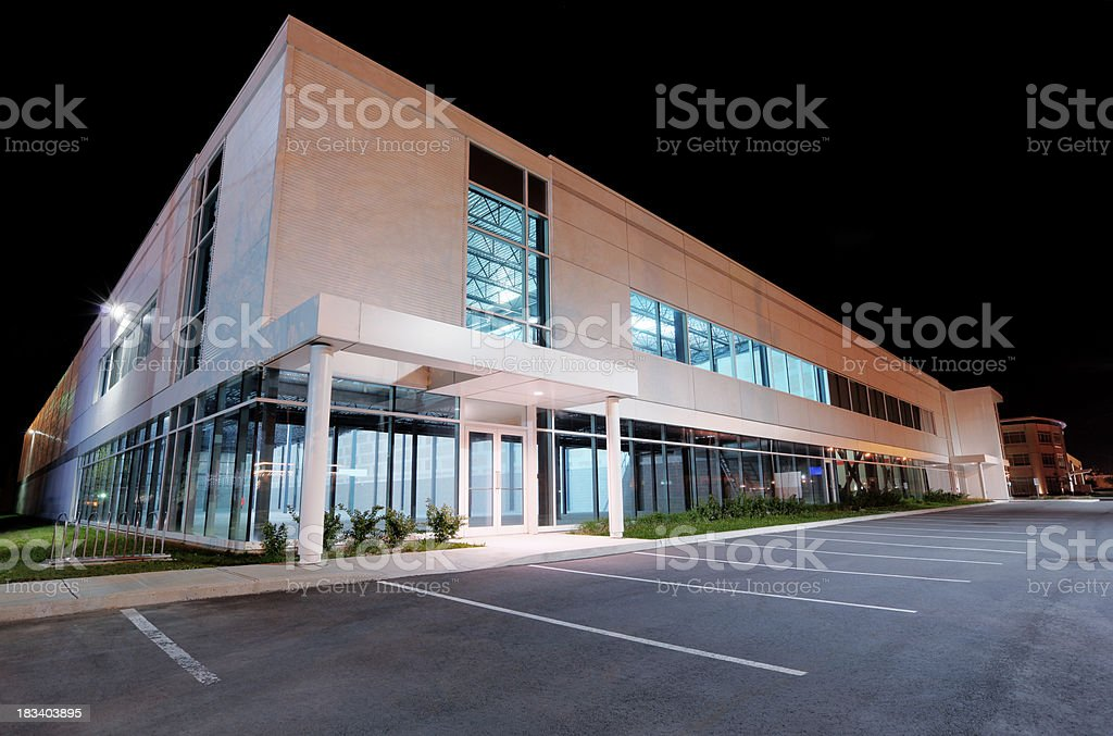 Commercial Real Estate at Night stock photo