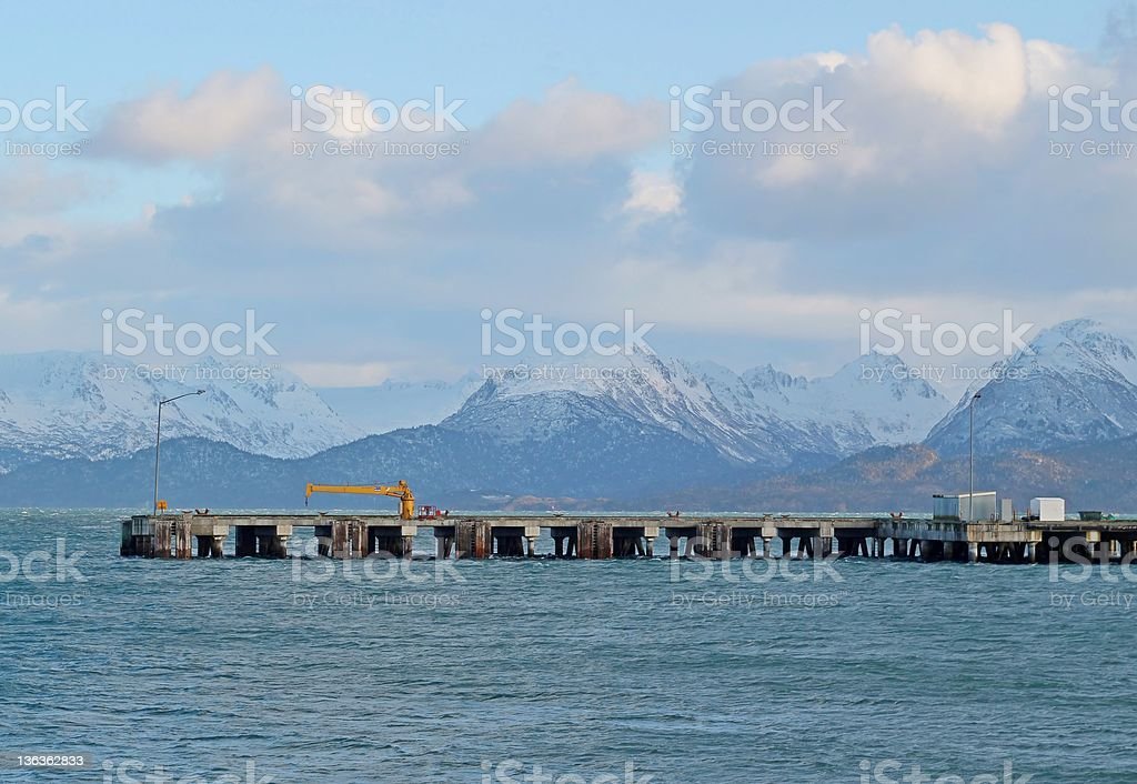 Commercial shipping dock royalty-free stock photo