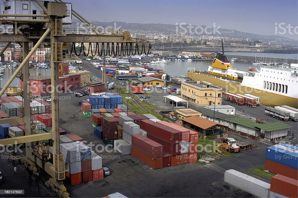 Commercial Shipping Port royalty-free stock photo