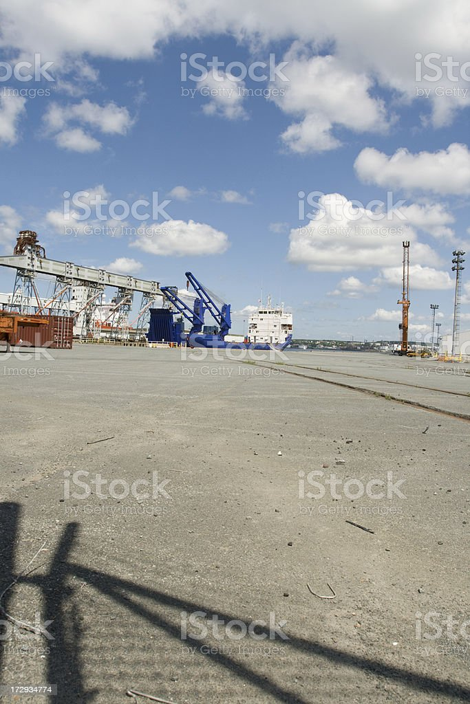 commercial shipyard stock photo