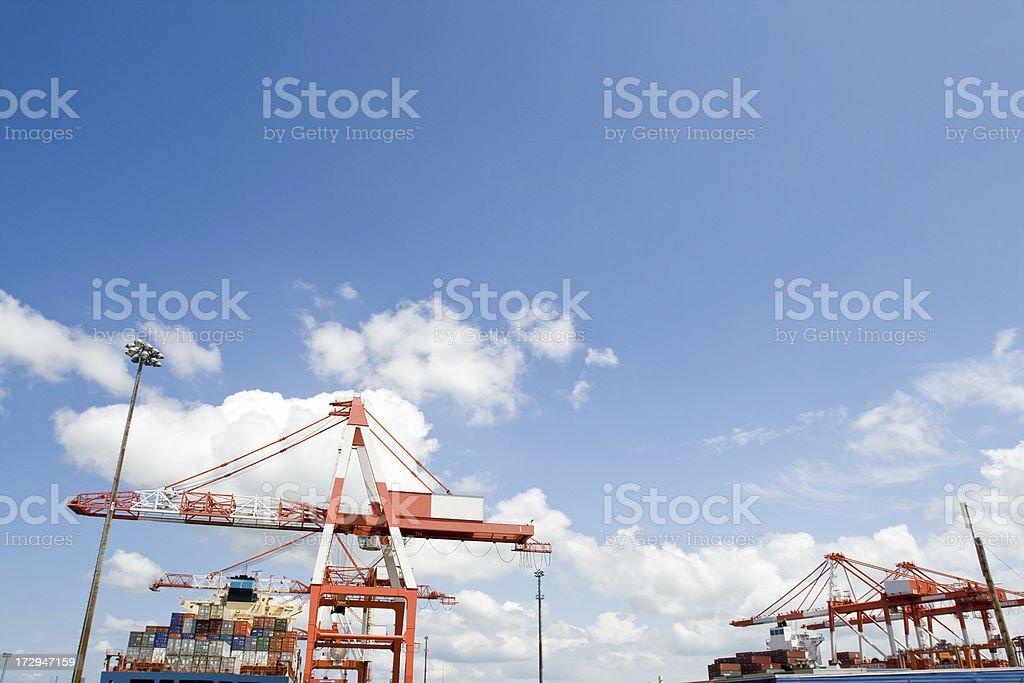 commercial shipyard stock photo