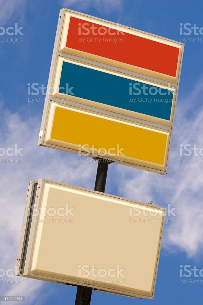 Commercial sign #3 (w/ 6 clipping paths) royalty-free stock photo