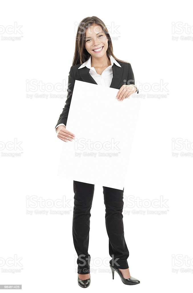 Commercial sign woman royalty-free stock photo