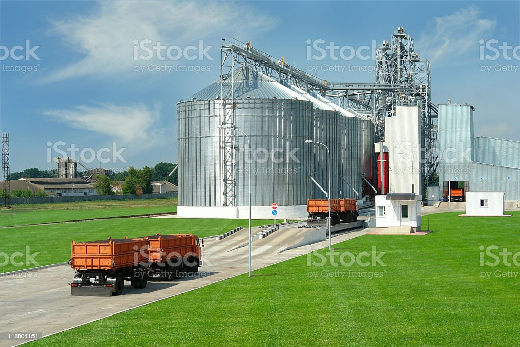 A commercial sized farm for mass production  stock photo