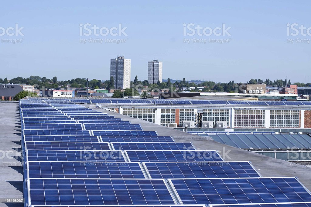 Commercial Solar Panels stock photo