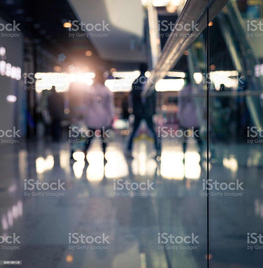 Commercial Street corner, Virtual focus, can be used for background. stock photo