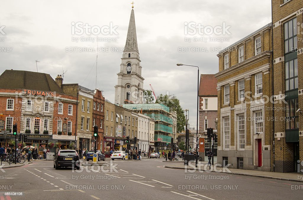 Commercial Street, Shoreditch, East London stock photo
