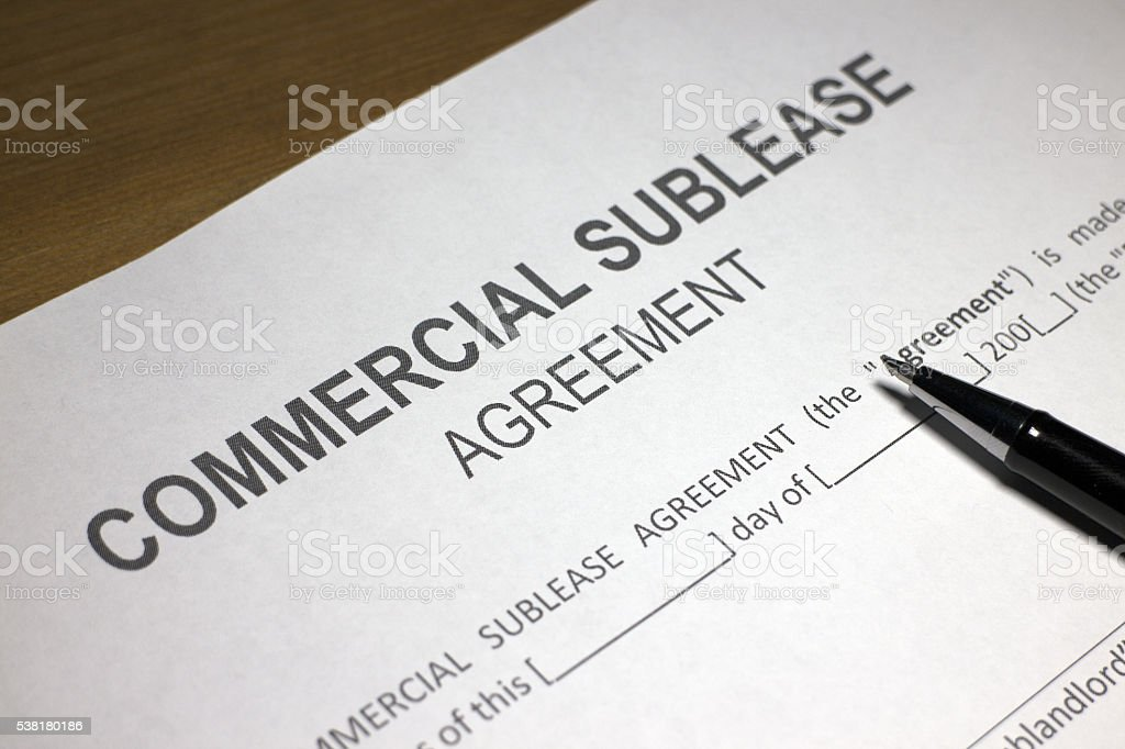 Commercial Sublease Agreement Stock Photo 538180186 | Istock