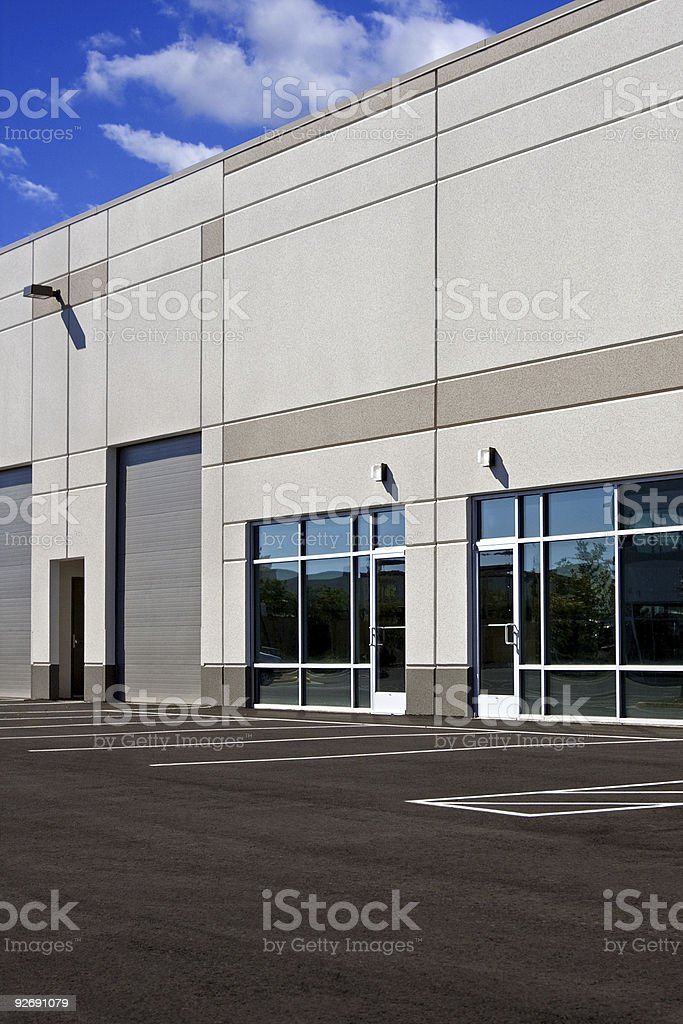 Commercial/Industrial building royalty-free stock photo
