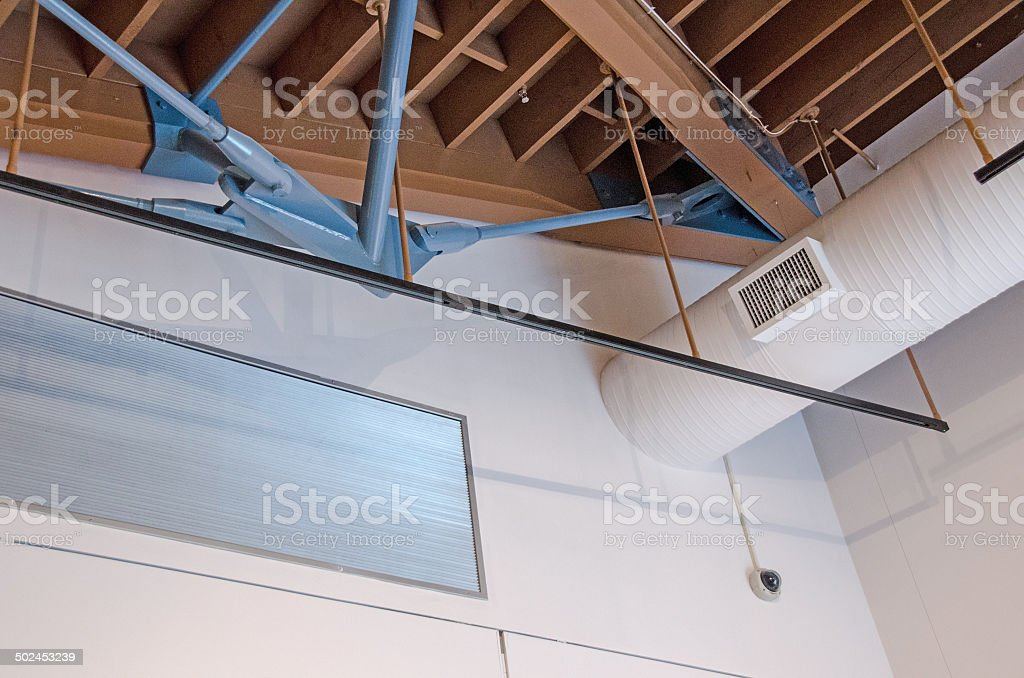 Commericial Roof Heat Vents stock photo