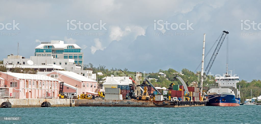Commericial Wharf in Hamilton stock photo