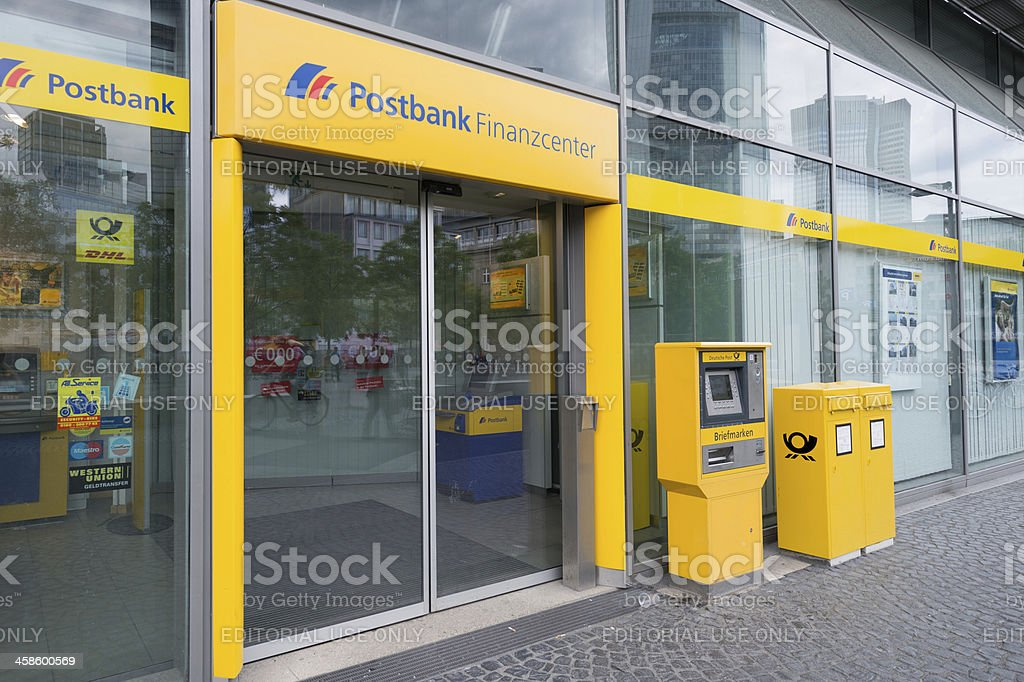 Commerzbank AG bank branch in Frankfurt, Germany royalty-free stock photo