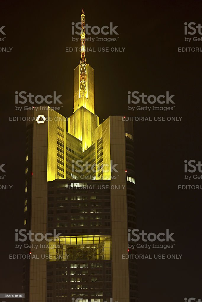 Commerzbank Tower in Frankfurt, Germany royalty-free stock photo