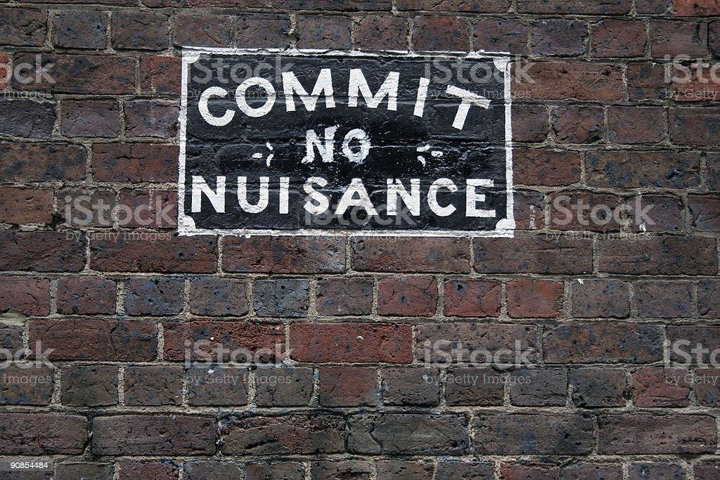 Commit no nuisance royalty-free stock photo