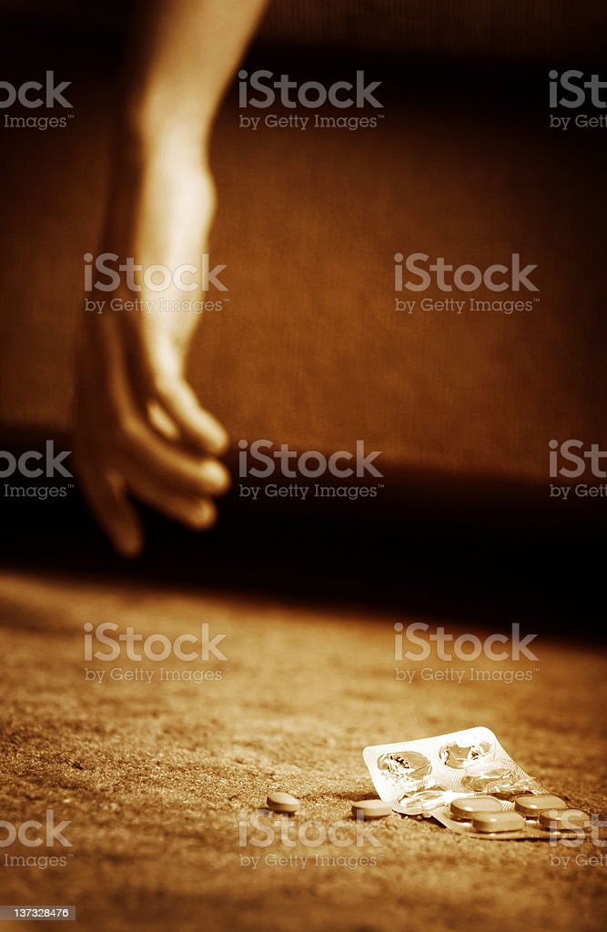 Commit suicide royalty-free stock photo