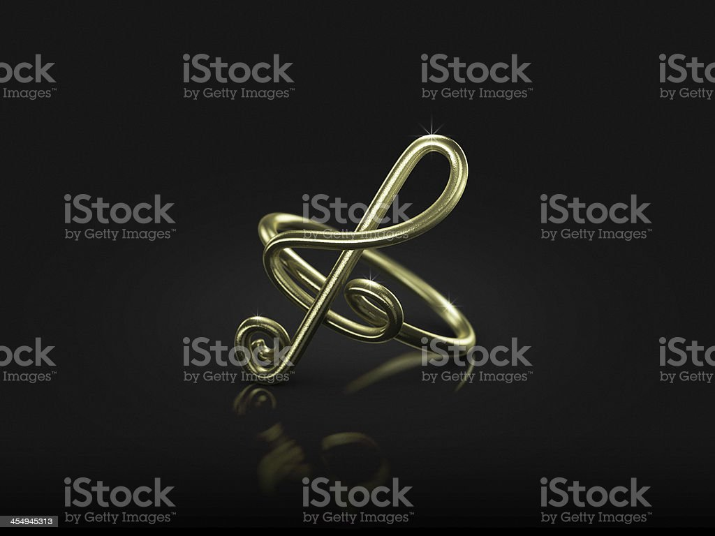 commitment musical note ring royalty-free stock photo
