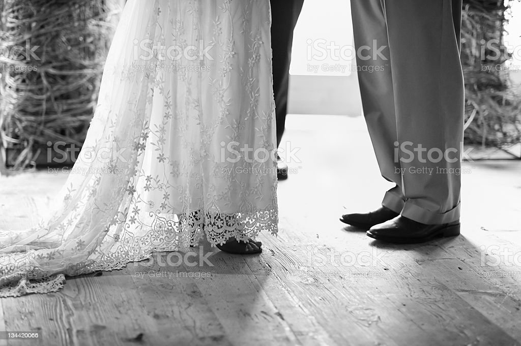 Commitment Time at the Wedding Ceremony royalty-free stock photo