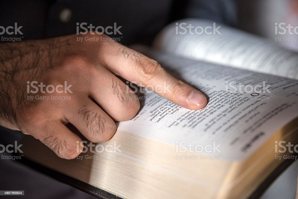 commitment to the Bible stock photo