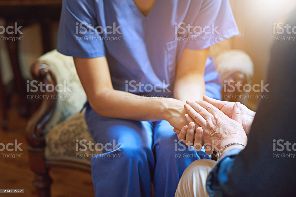 Committed to comfort and care stock photo