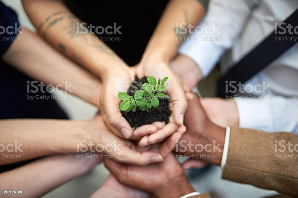 Committed to continual growth stock photo