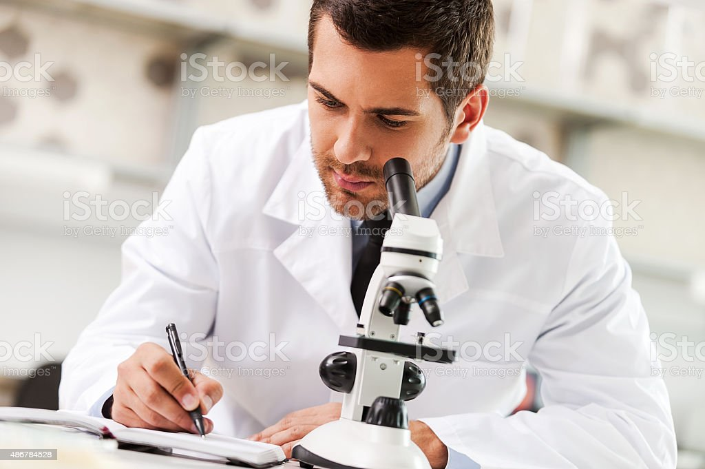 Committed to find the cure. stock photo