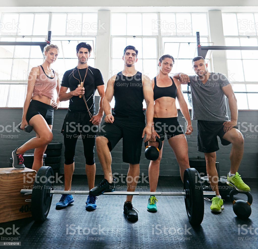 Committed to fitness stock photo