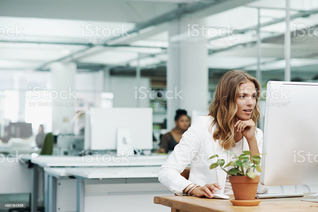 Committed to the success of her business stock photo