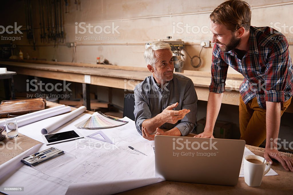 Committed to their plans stock photo