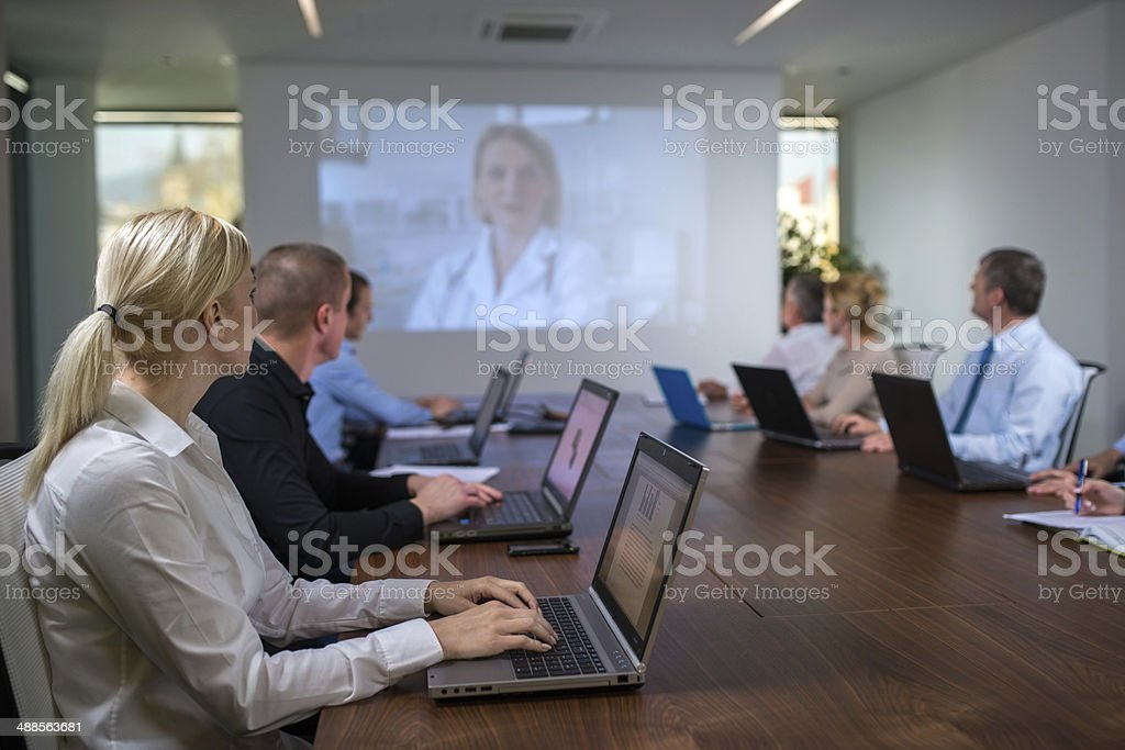 Committee Having A Conference stock photo