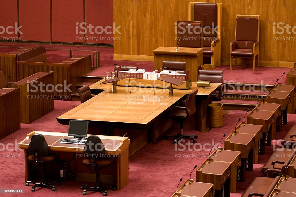 Committee meeting hall stock photo