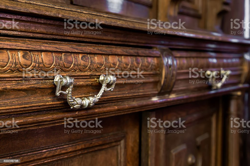 commode with vintage furniture stock photo