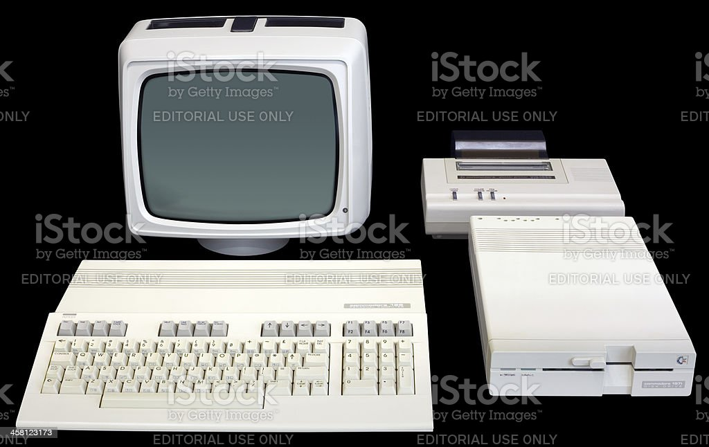 Commodore 128 stock photo