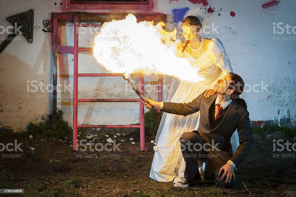 Common baby light my fire royalty-free stock photo
