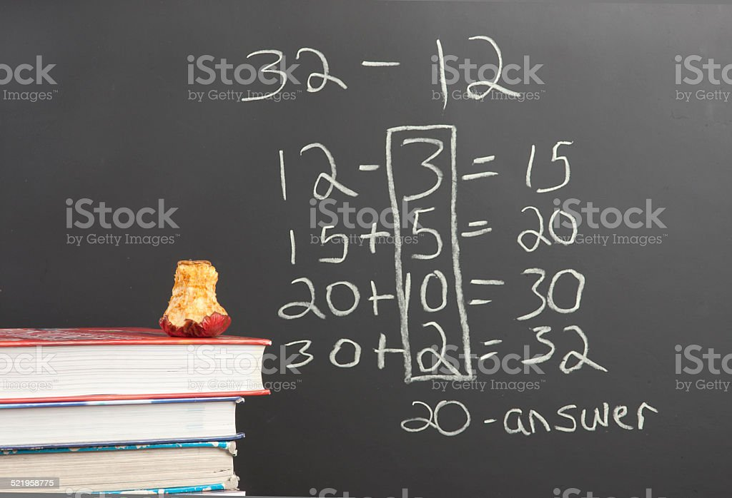 Common Core new math. stock photo